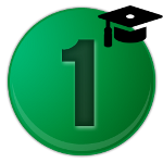11  green number 1 icon
