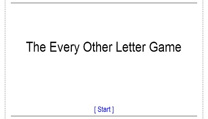 The every other letter game - Adverbs of time